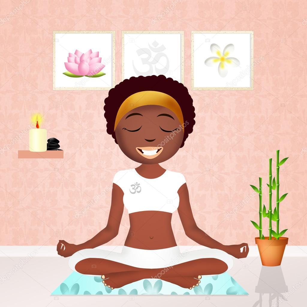 Black Woman Doing Yoga Stock Photo C Adrenalina 91915522