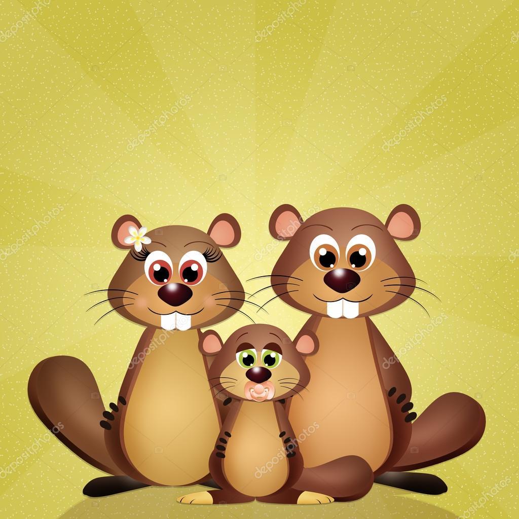 Lustige Groundogs Familie Stockfoto Adrenalina 97237194