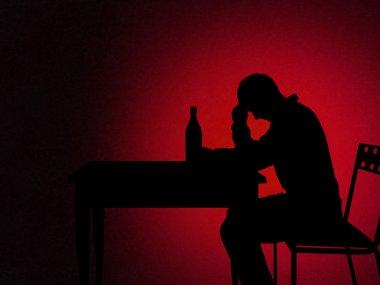 alcoholic man silhouette