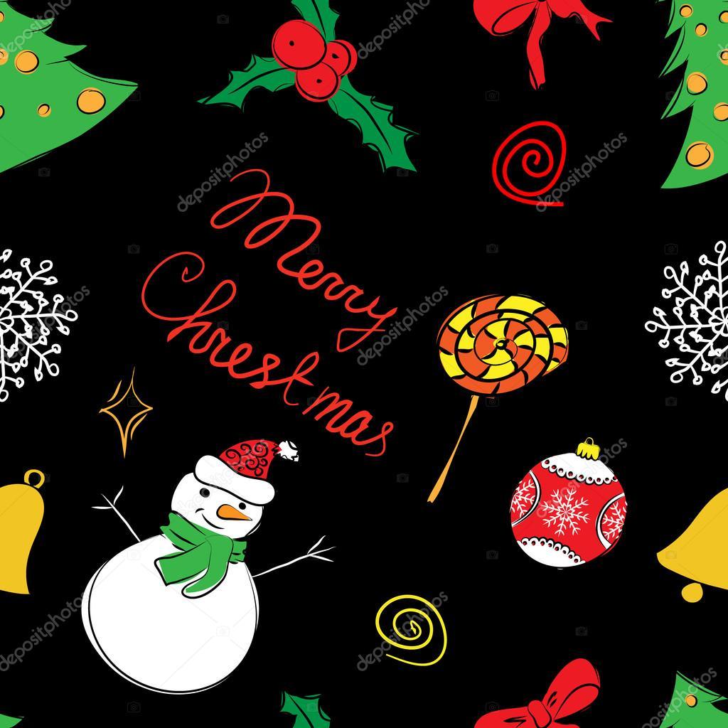 patrón de color de la Navidad — Vector de stock © catreen #88642192