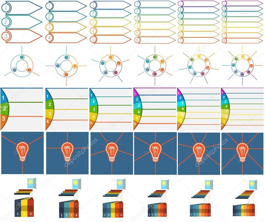 Nummerierte 30 Vorlagen Infografiken mit Textbereich — Stockvektor ...