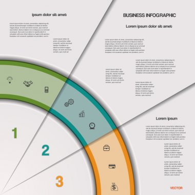 Infographic business process or workflow for project