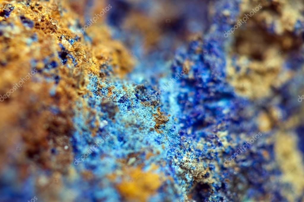 Azurite is a soft, deep blue copper mineral