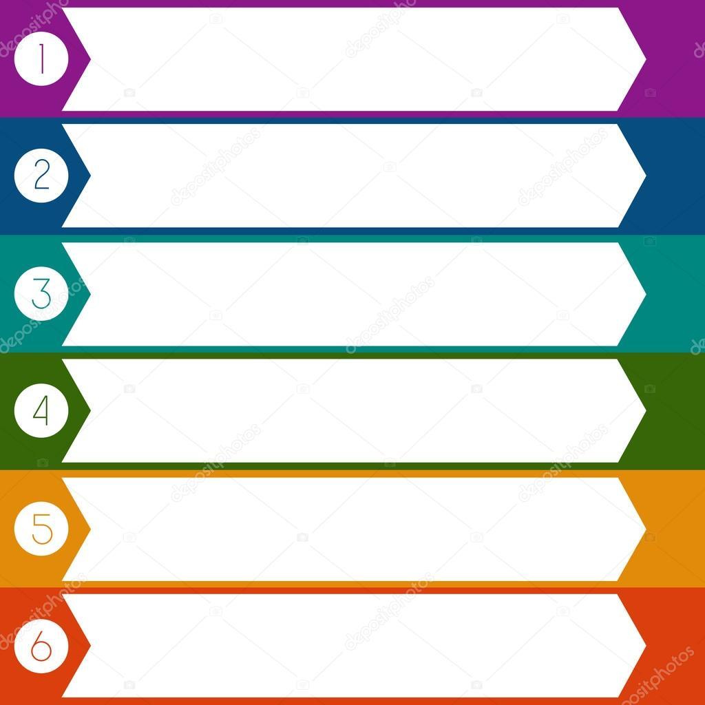 Posiciones de plantilla 6 flechas infografía — Foto de stock ...