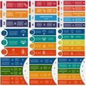 Fotografia Infographics ciclico elabora 3.4.5 opzioni