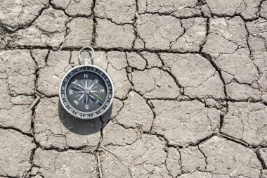 Compass on the ground