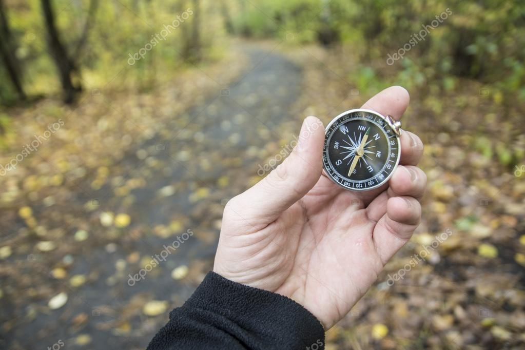 compass for orientation in the terrain