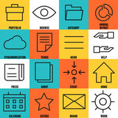 Készlet lineáris internet szolgáltatás ikonok - rész 4