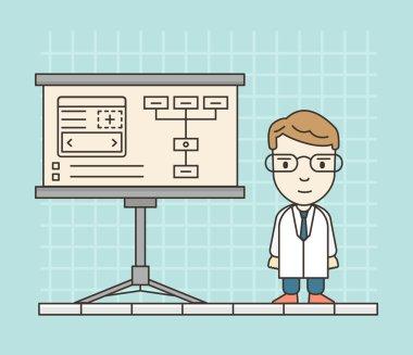 Process of creating site. Development skeleton framework of a website