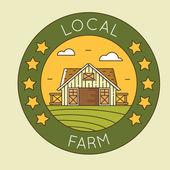 Místní farma - sýpka znak logo pack. Ekologické zemědělství
