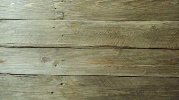 Dřevěné dřevo na pozadí textury deska. Pánev nad texturou dřeva