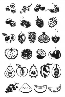 fruits and berry icons