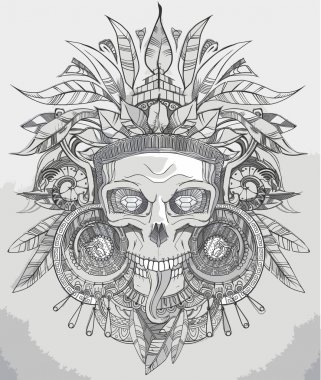 Indian skull vector illustration