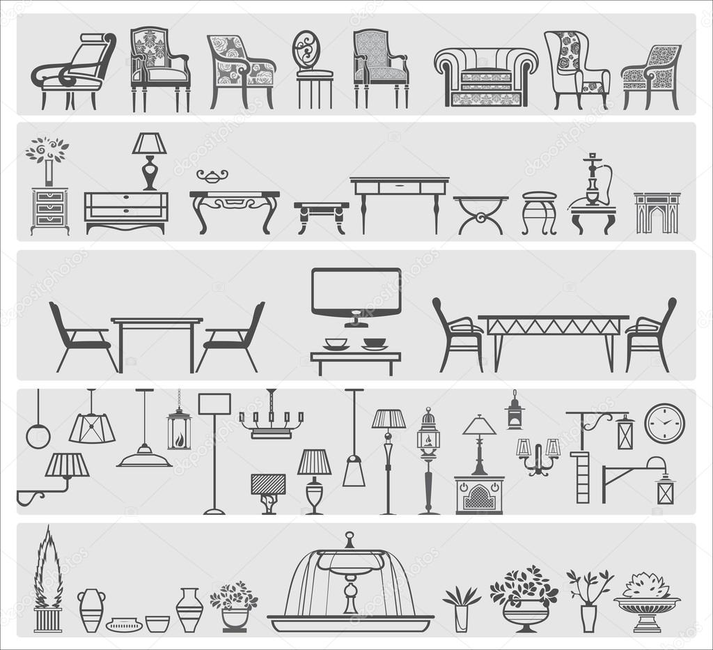 icons of interior elements