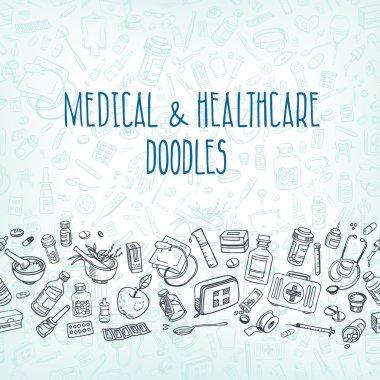 medicine doodle background