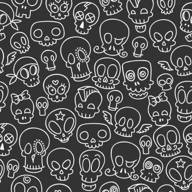 cute skulls pattern