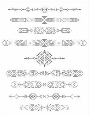 vintage tribal elements