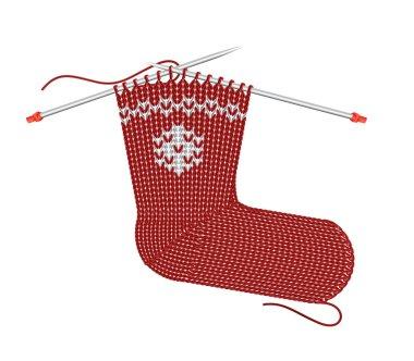Christmas Sock Knitting on the needles