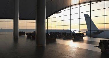 Modern airport passenger terminal
