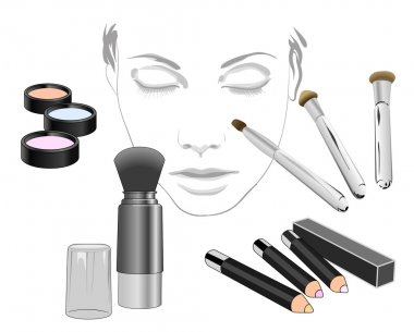 Set of cosmetic product for face