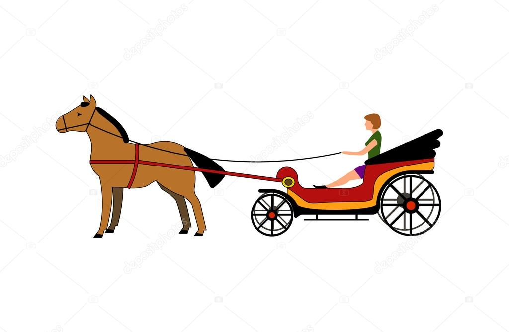 ᐈ Carriage Horse Drawing Stock Pictures Royalty Free Horse Drawn Carriage Vectors Download On Depositphotos