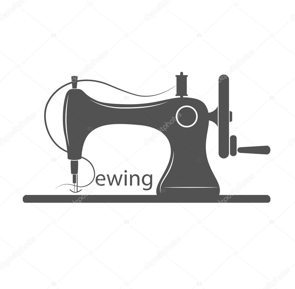 Sewing Machine Logo - vector symbol or icon — Stock Vector © idcde ...