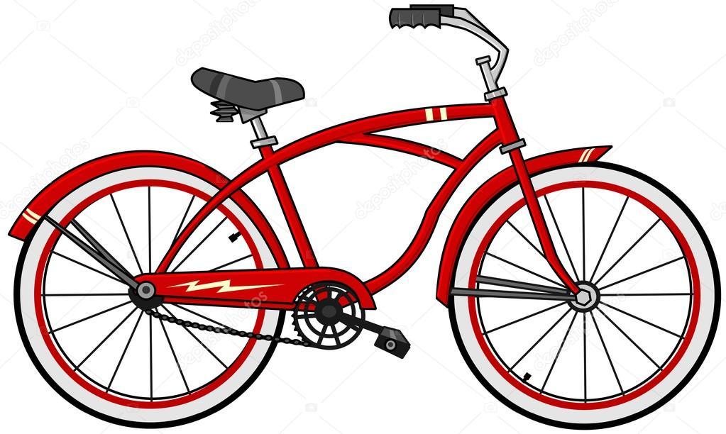Bicicletta Rossa Del Fumetto Foto Stock Caraman 114476618