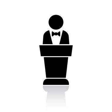 Speaker podium icon