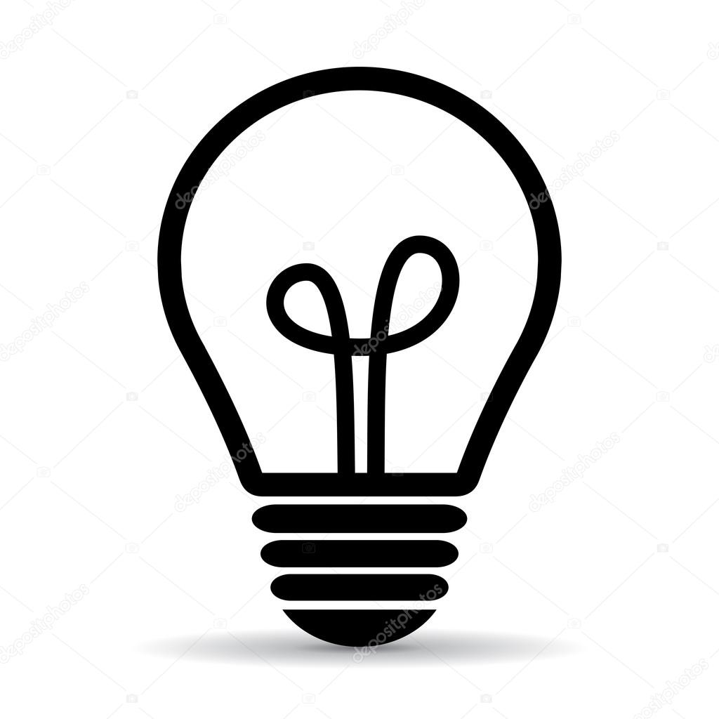 light bulb vector icon stock vector arcady 100558860 rh depositphotos com light bulb vector art light bulb vector free icon