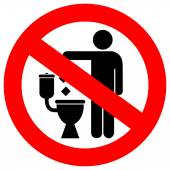 Fotografie No littering in toilet sign