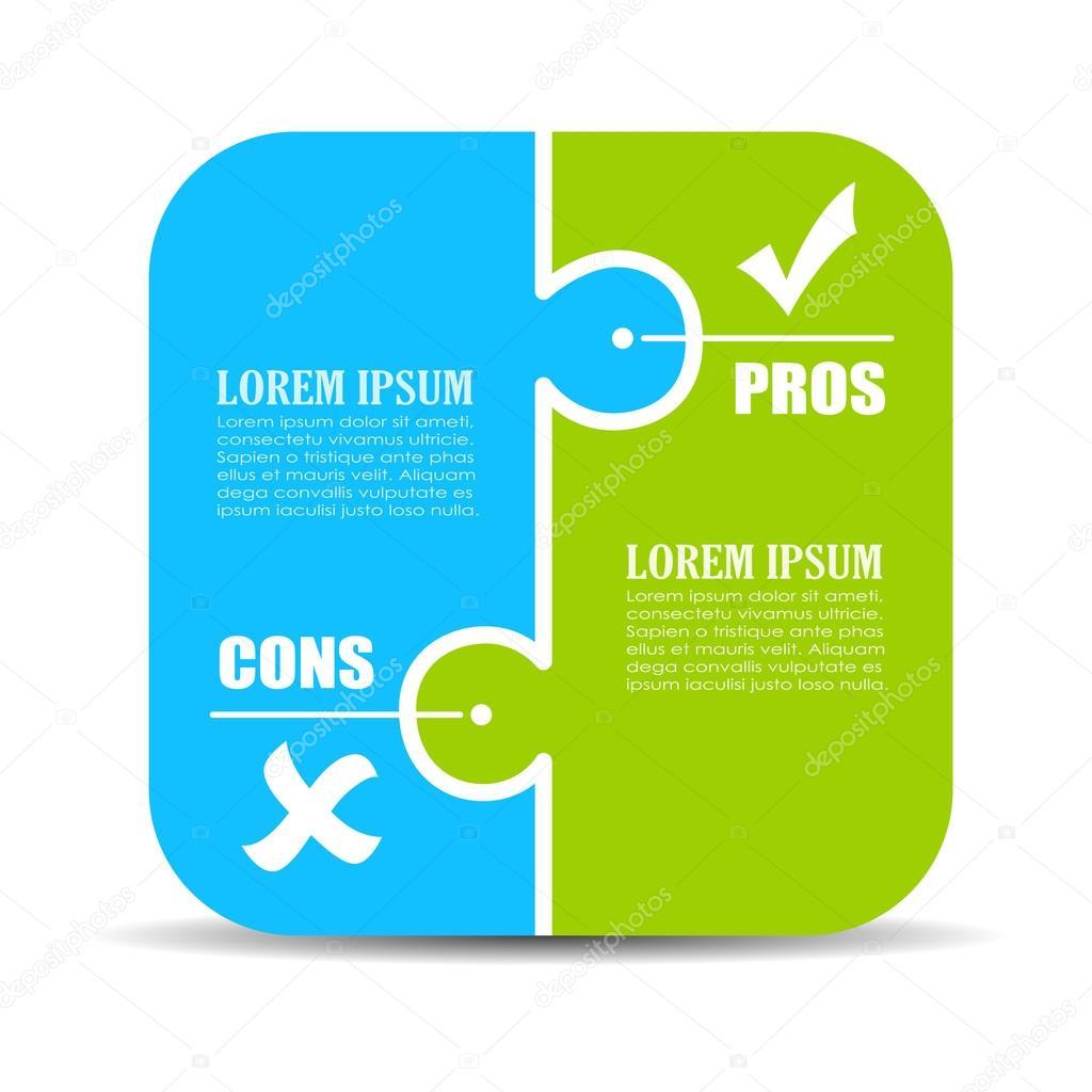 Pros and cons puzzle diagram stock vector arcady 104029184 - Microcemento pros y contras ...