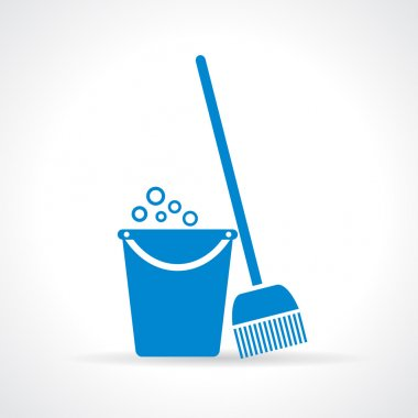 Mopping vector icon
