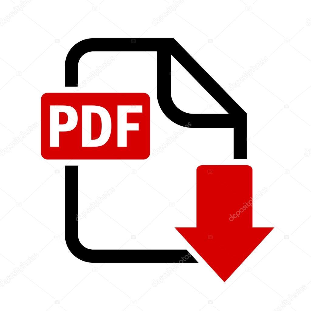 Pdf file download icon. Document text, symbol web format.