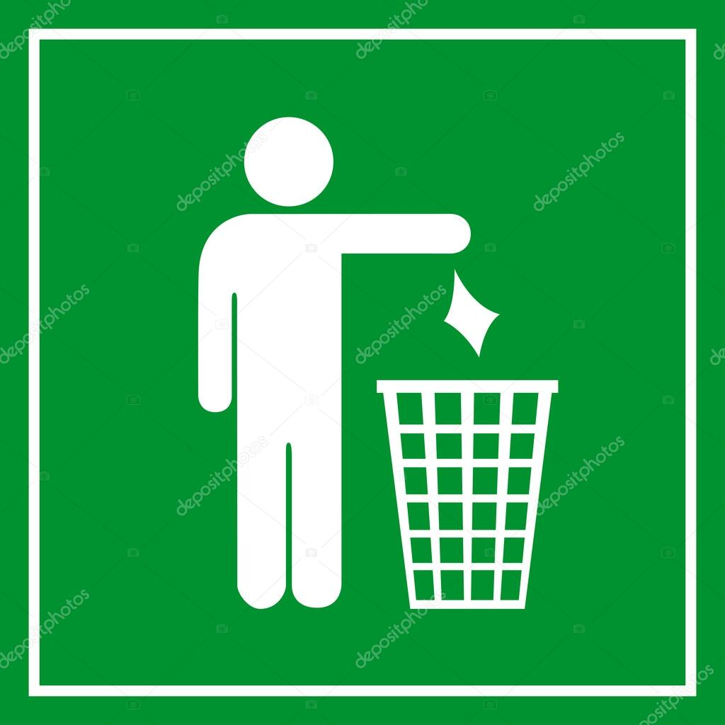 Use A Trash Can No Littering Sign Stock Vector Arcady 108898092