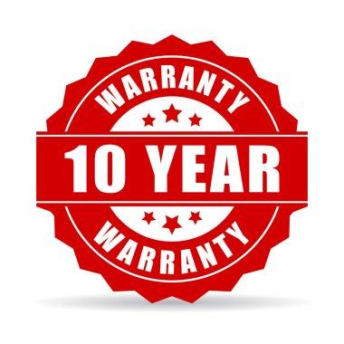 10 year warranty icon