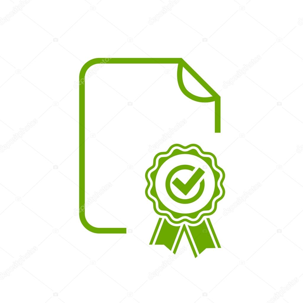 Certificate diploma seal icon stock vector arcady 124334480 certificate approval green icon vector illustration isolated on white background vector by arcady buycottarizona