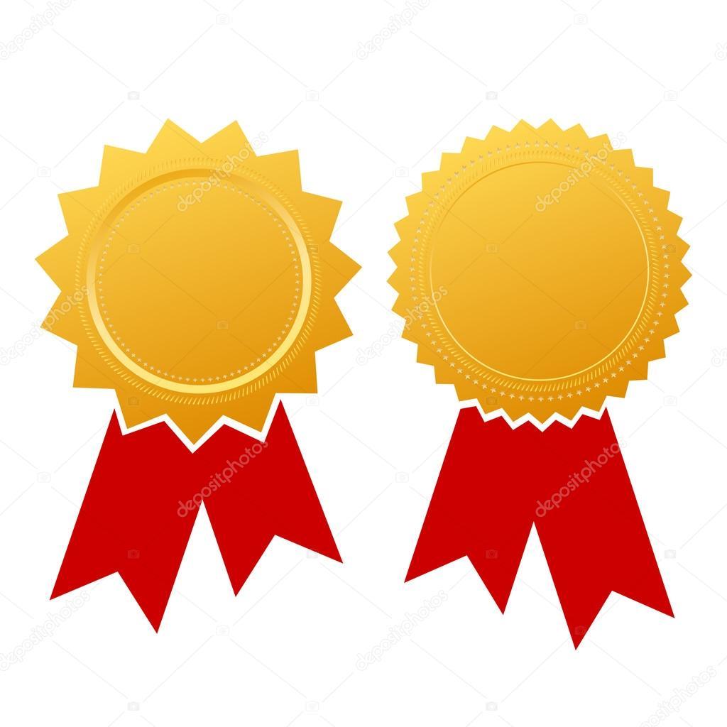 blank ribbon certificate stock vector arcady 65616177