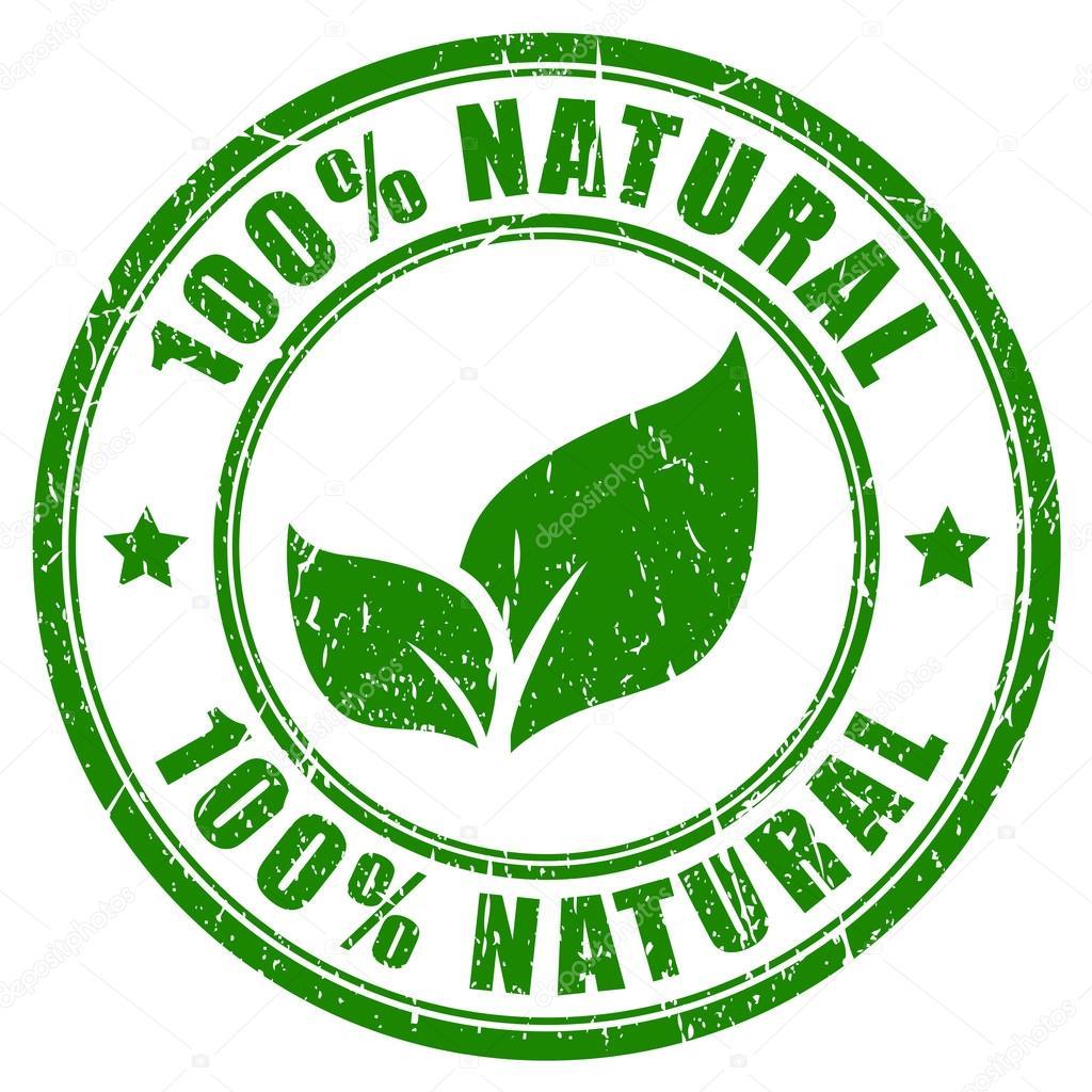 100 natural stamp