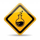 Nebezpečí chemikálie varovným signálem