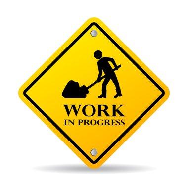 Work in progress sign on white background clip art vector
