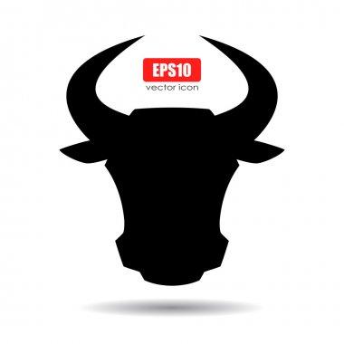 Horned bull icon
