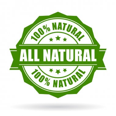 All natural vector icon isolated on white background stock vector