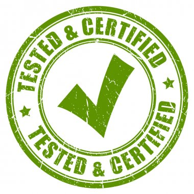 Tested and certified stamp