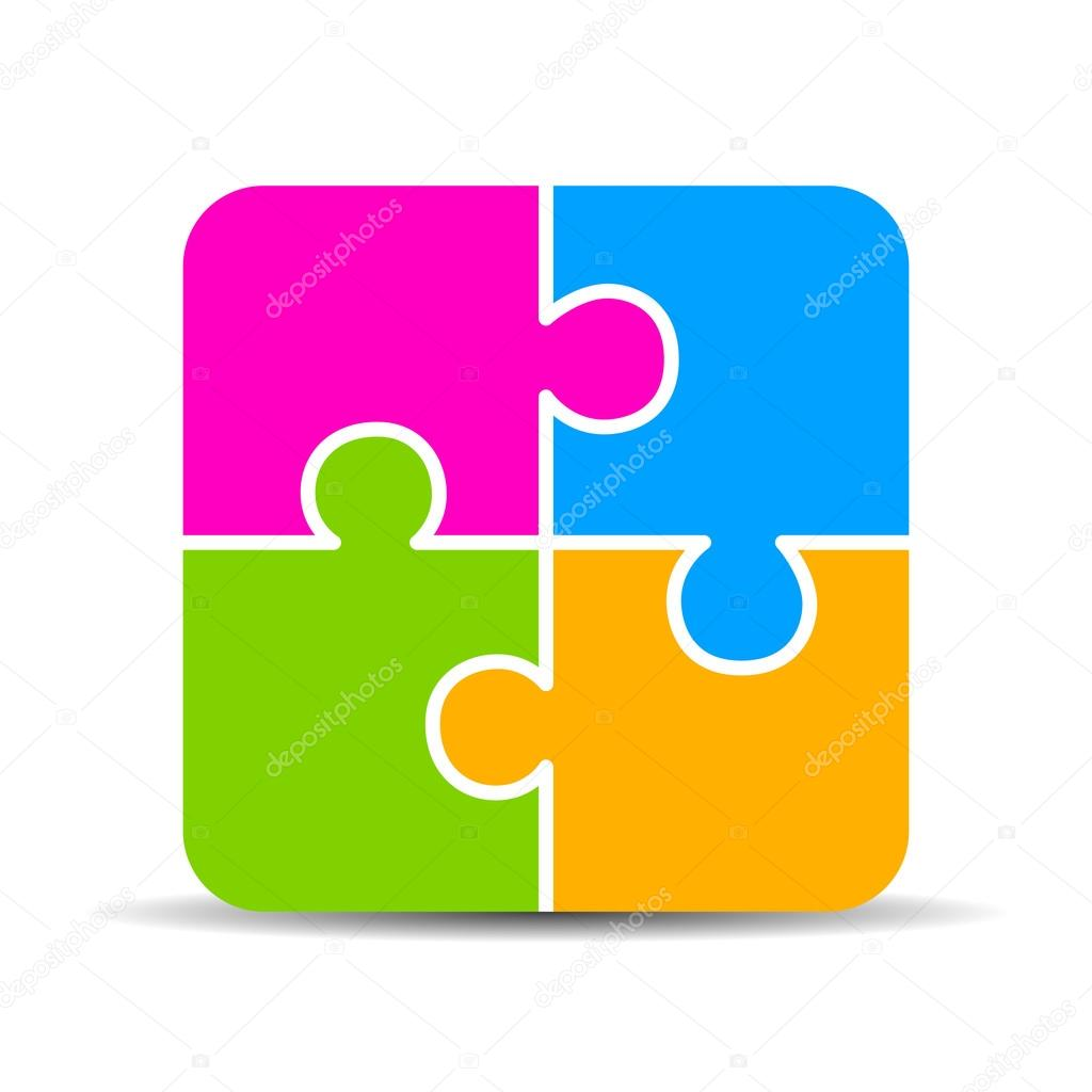 Blank 4 Piece Puzzle Chart Stock Vector Arcady 87617008 Rh Depositphotos Com