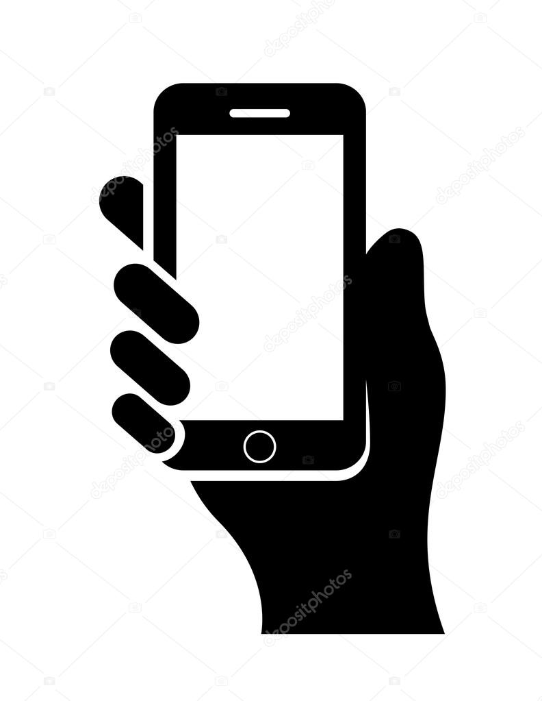 Clip Art Cell Phone With Numbers