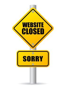 Website closed sign