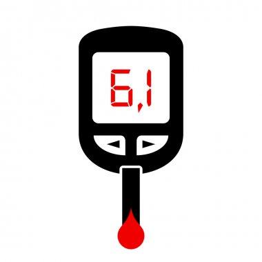 High sugar level, diabetes symbol