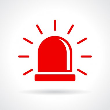 Red flashing light icon