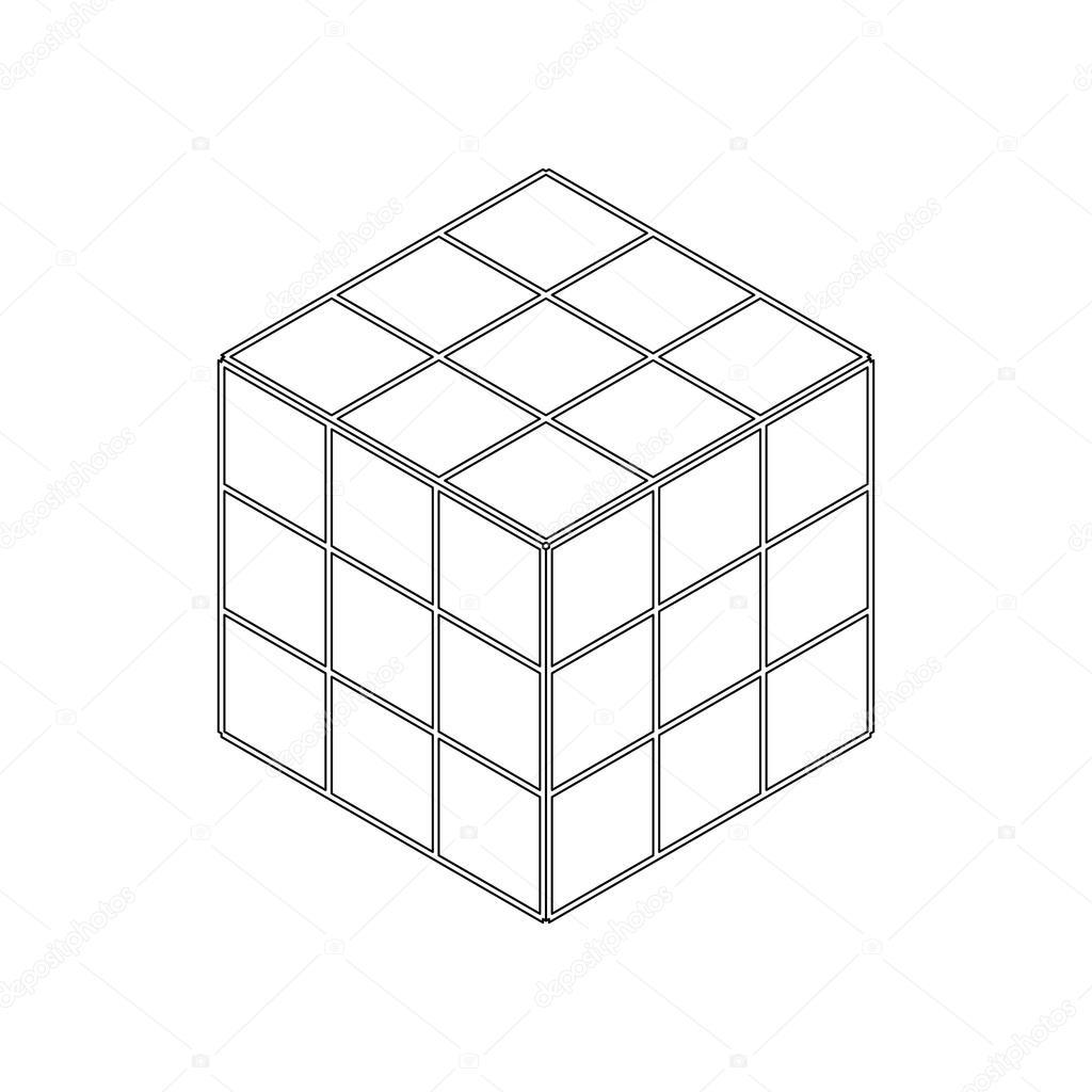 Icono puzzle de cubo toy, isométrica estilo 3d — Vector de stock ...
