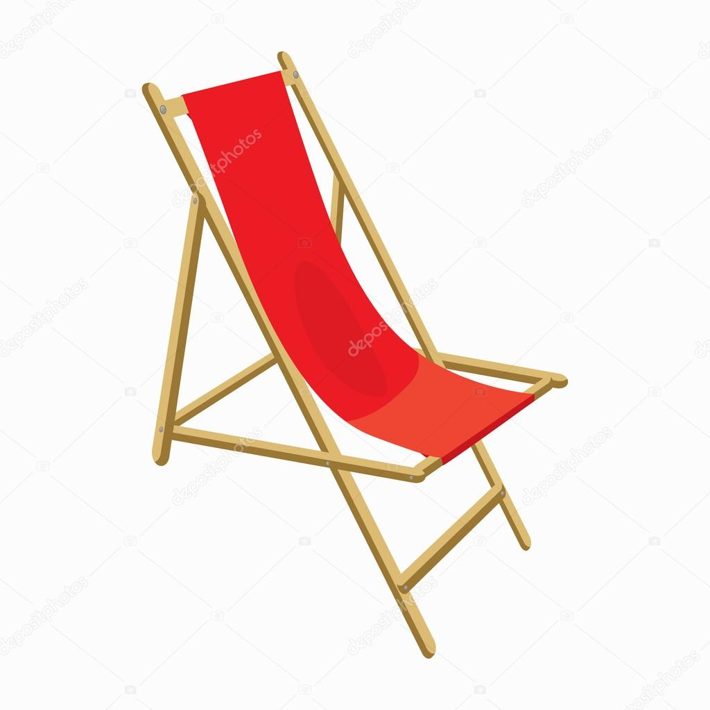 Icono de la silla de playa estilo de dibujos animados - Silla para la playa ...